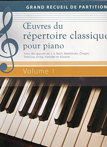 9783625138174: Oeuvres du r�pertoire classique pour piano Volume 1 - Grand recueil de partitions