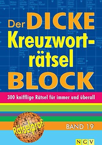 9783625174080: Der dicke Kreuzworträtsel-Block Band 19