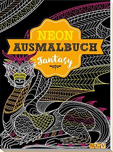 9783625176800: Fantasy Neon-Ausmalbuch
