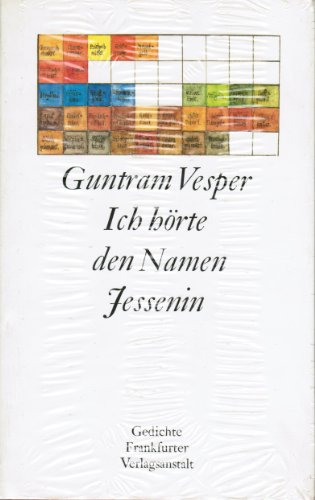 9783627101152: Ich h�rte den Namen Jessenin: Fr�he Gedichte