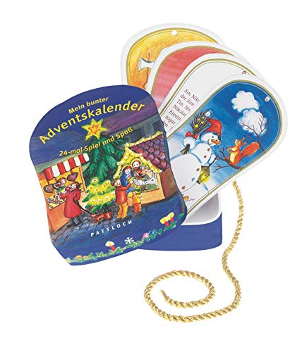 9783629014283: Mein bunter Adventskalender: 24-mal Spiel und Spaß. Ein Mitmachkalender mit Karten zum Aufhängen