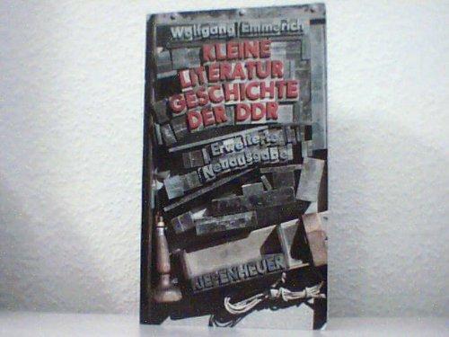 9783630613260: Kleine Literaturgeschichte der DDR. Mit Zeittafel und Literaturverzeichnis