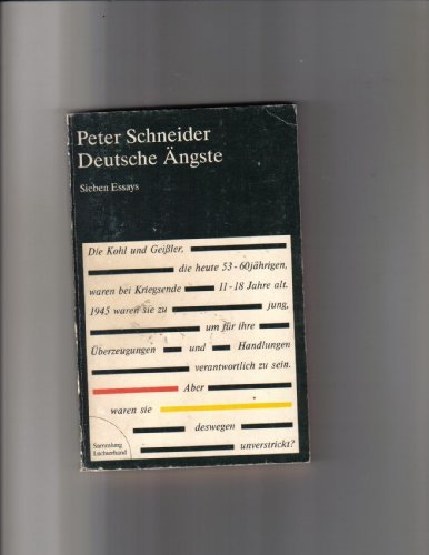 9783630617824: Deutsche Ängste: Sieben Essays (Sammlung Luchterhand) (German Edition)