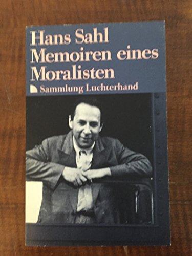 9783630619323: Memoiren eines Moralisten
