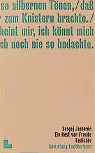 Jessenin Sergej Gedichte Abebooks