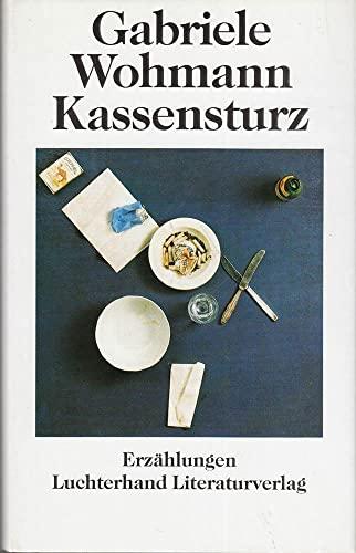Kassensturz : Erzählungen. - Wohmann, Gabriele