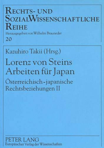 Lorenz von Steins Arbeiten für Japan: Kazuhiro Takii