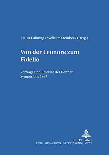 Von der Leonore zum Fidelio: Helga Lühning