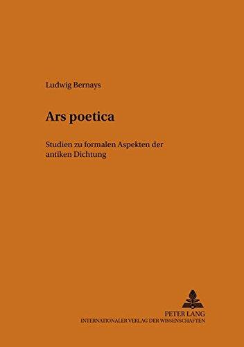Ars poetica: Studien zu formalen Aspekten der antiken Dichtung (PRISMATA) (German Edition): Ludwig ...