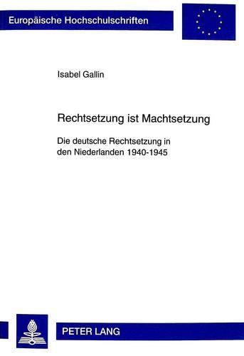 Rechtsetzung ist Machtsetzung: Isabel Gallin