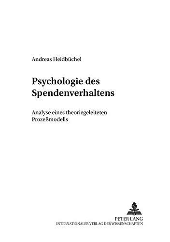 Psychologie des Spendenverhaltens: Andreas Heidb�chel