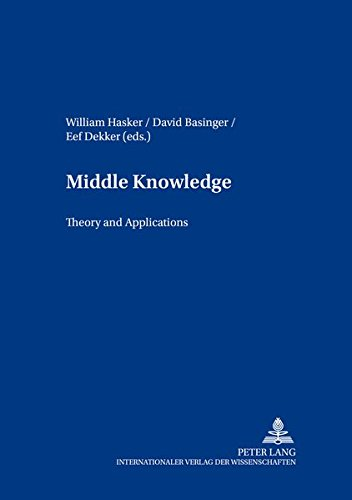 9783631362884: Middle Knowledge: Theory and Applications (Contributions to Philosophical Theology)