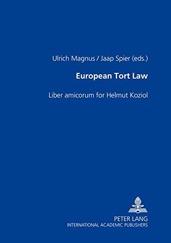 9783631363201: European Tort Law: Liber Amicorum for Helmut Koziol