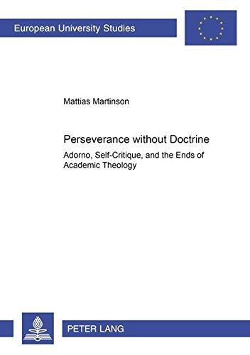 Perseverance without Doctrine: Martinson, Mattias