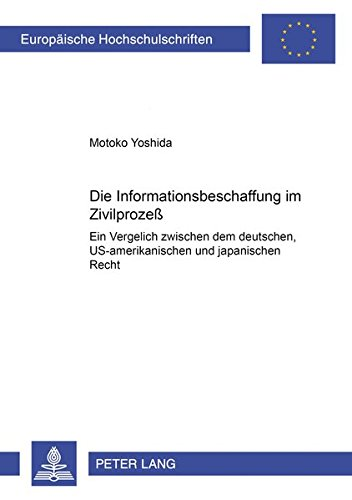 Die Informationsbeschaffung im Zivilprozeß: Motoko Yoshida