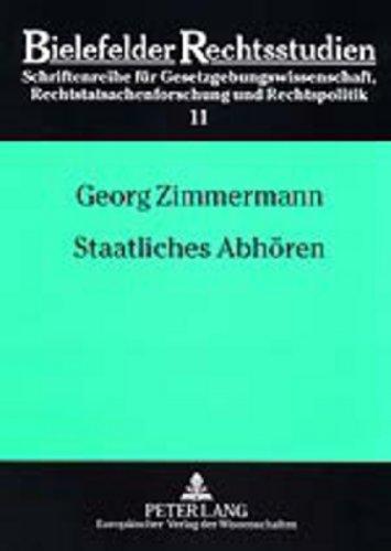 9783631380321: Staatliches Abhören (Bielefelder Rechtsstudien) (German Edition)