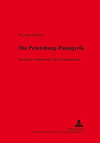 Die Petersburg-Panegyrik: Riccardo Nicolosi