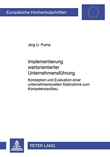 Implementierung wertorientierter Unternehmensführung: Jörg U. Puma