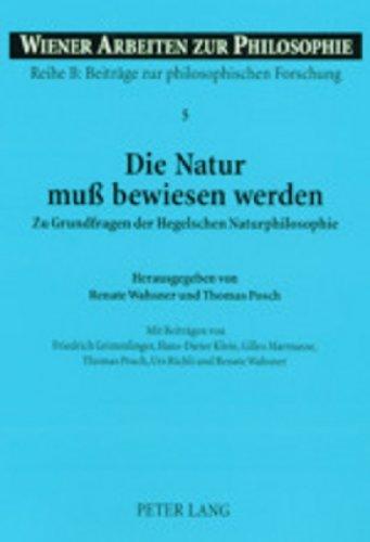 Die Natur muß bewiesen werden: Renate Wahsner