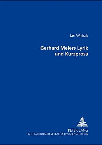 Gerhard Meiers Lyrik und Kurzprosa: Jan Watrak