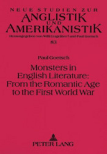 9783631393703: Monsters In English Literature: From The Romantic Age To The First World War