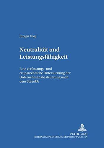 Neutralität und Leistungsfähigkeit: J�rgen Vogt