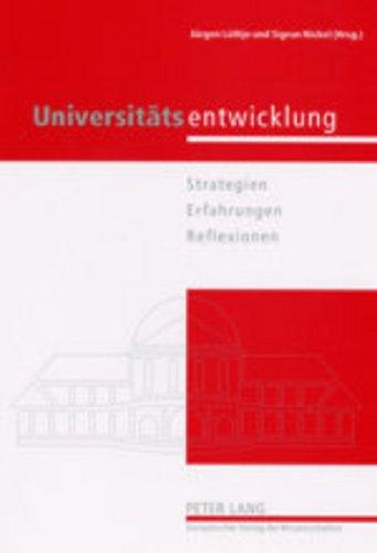 9783631396070: Universitaetsentwicklung: Strategien - Erfahrungen - Reflexionen