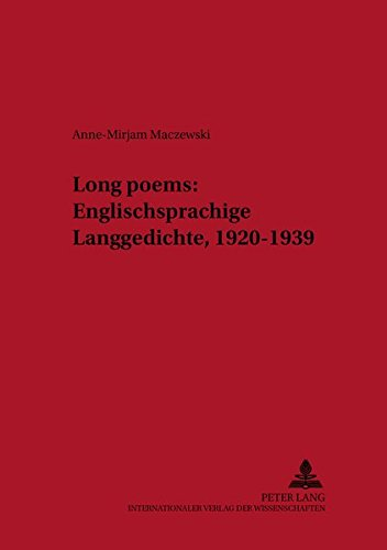 Long poems: Anne-Mirjam Maczewski
