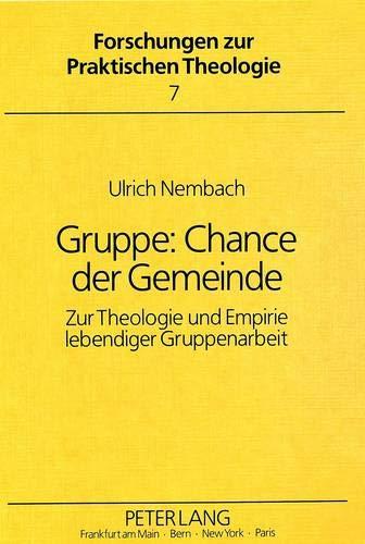 Gruppe: Chance der Gemeinde : zur Theologie: Nembach, Ulrich
