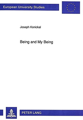 Being and My Being Gabriel Marcel's Metaphysics of Incarnation: KONICKAL JOSEPH