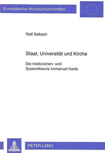 Staat, Universität und Kirche: Ralf Selbach