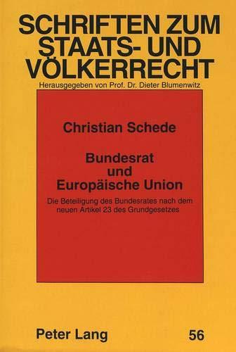 Bundesrat und Europäische Union: Christian Schede