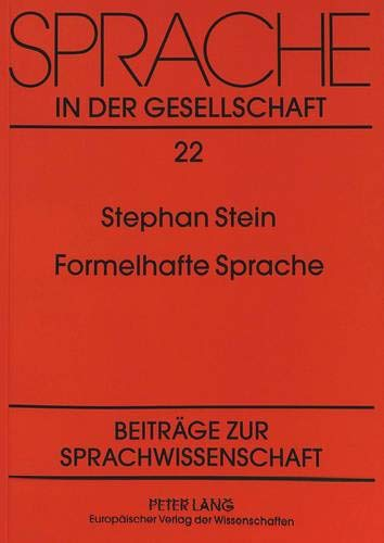 Formelhafte Sprache: Stephan Stein
