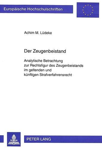 Der Zeugenbeistand: Achim M. L�deke