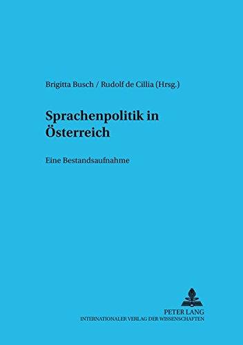 9783631501894: Sprachenpolitik in Österreich: Eine Bestandsaufnahme (Sprache im Kontext) (German Edition)