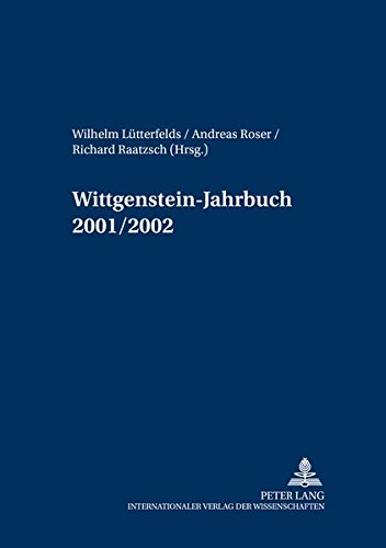 9783631506547: Wittgenstein-Jahrbuch 2001/2002