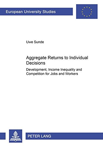 9783631517260: Aggregate Returns to Individual Decisions: Development, Income Inequality and Competition for Jobs and Workers (Europäische Hochschulschriften / ... / Publications Universitaires Européennes)