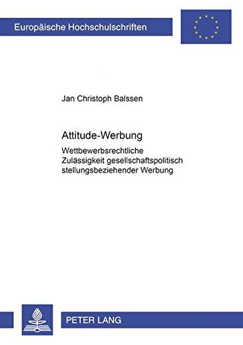 Attitude-Werbung: Jan Christoph Balssen