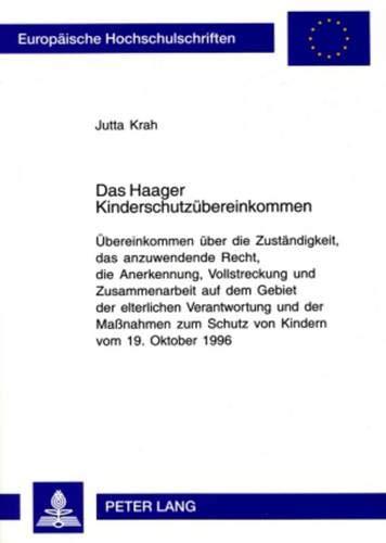 Das Haager Kinderschutzübereinkommen: Jutta Krah