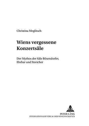 Wiens vergessene Konzertsäle: Christina Meglitsch