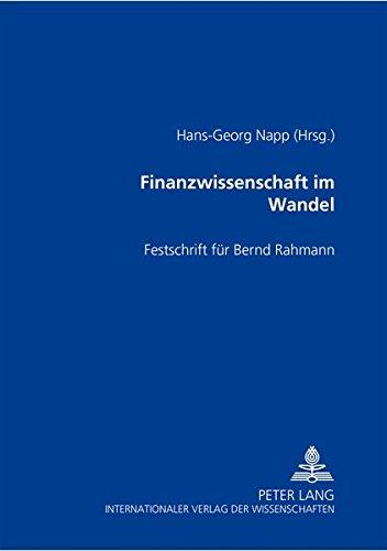 Finanzwissenschaft im Wandel: Hans-Georg Napp