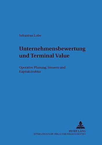 Unternehmensbewertung und Terminal Value: Sebastian Lobe