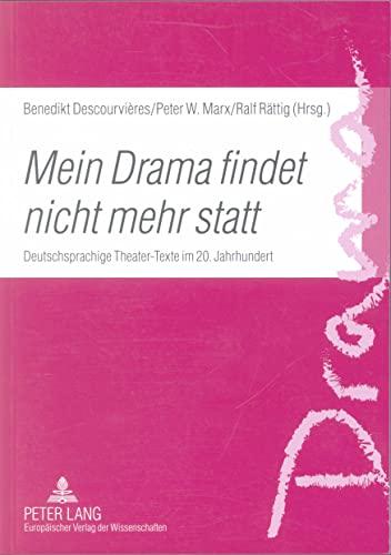 Mein Drama findet nicht mehr statt: Benedikt Descourvières