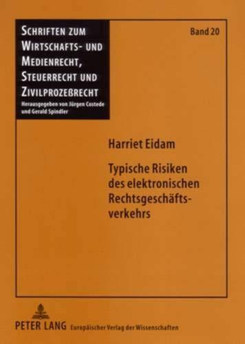 9783631541463: Typische Risiken Des Elektronischen Rechtsgeschaeftsverkehrs (Schriften Zum Wirtschafts- Und Medienrecht, Steuerrecht Und)