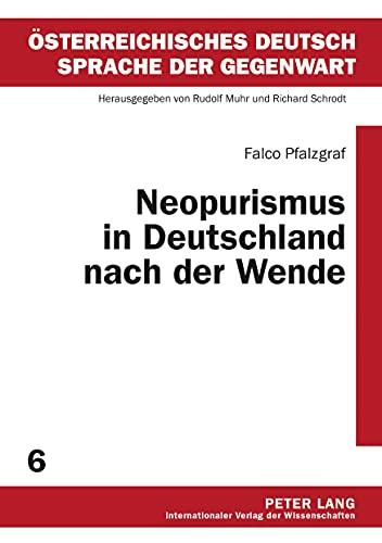 Neopurismus in Deutschland nach der Wende: Falco Pfalzgraf