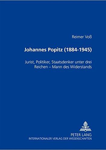 Johannes Popitz (1884-1945): Reimer Voß