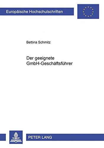 Der geeignete GmbH-Geschäftsführer: Bettina Schmitz