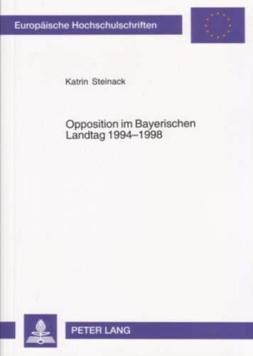Opposition im Bayerischen Landtag 1994-1998: Katrin Steinack
