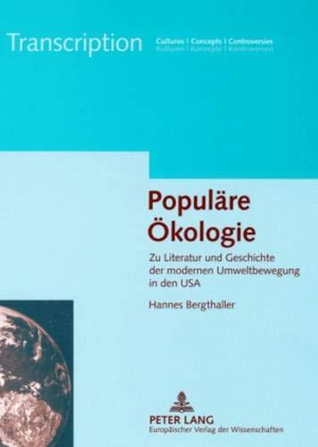 Populäre Ökologie: Hannes Bergthaller