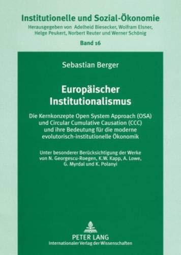 Europäischer Institutionalismus: Sebastian Berger